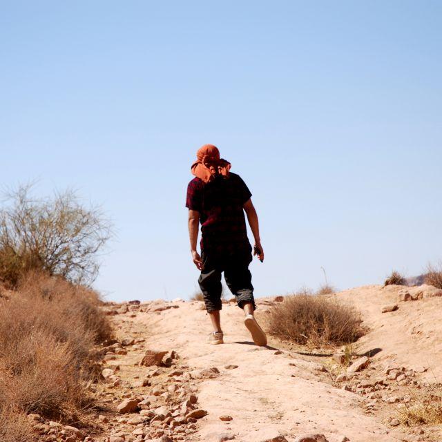 Wüstenlandschaften im Dana Biosphere Natural Reserve