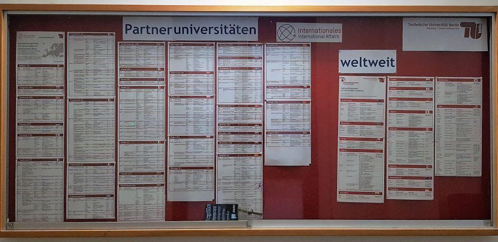 Partneruniversitäten der TU Berlin