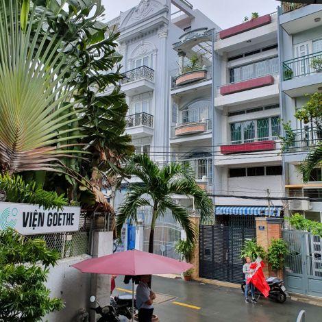 Der Ausblick vom Eingang des Goethe Instituts in Ho Chi Minh City