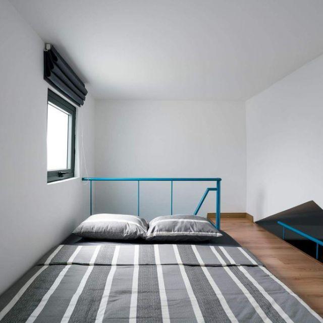 Mein Bett auf der Galerie