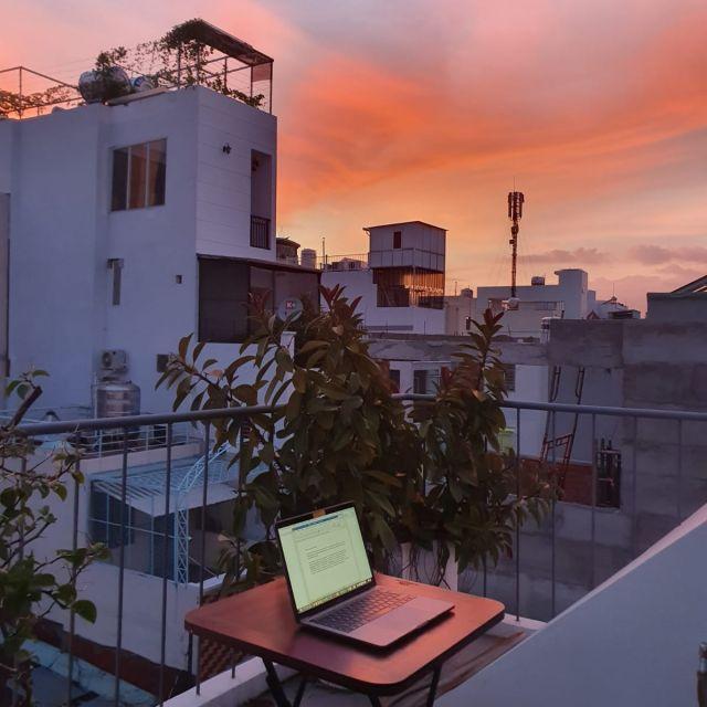 Sonnenuntergang von meiner Dachterrasse aus.