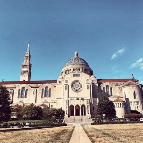 Was man so alles auf dem Campus findet. Die Basilica of the National Shrine of…
