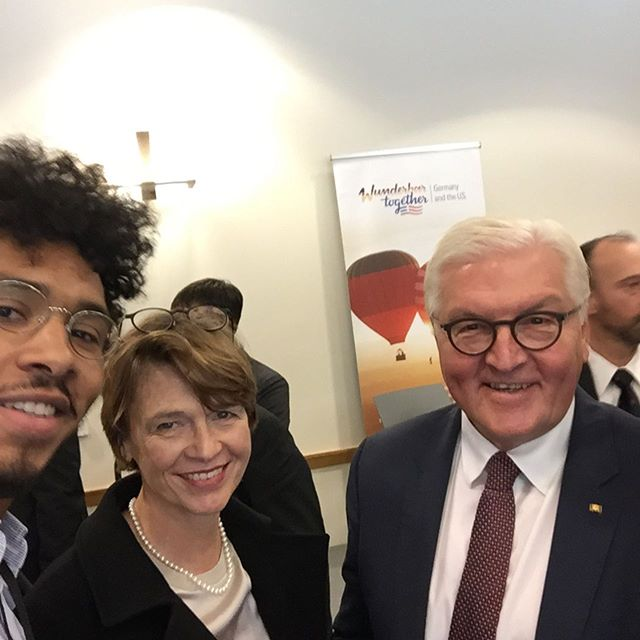Bundespräsident Steinmeier & Elke büdenbender  #harvard #germanamerican…