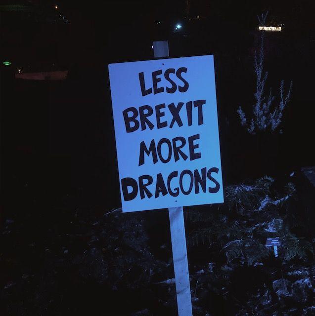Ein Schild im Botanischen Garten... Da stimme ich zu!