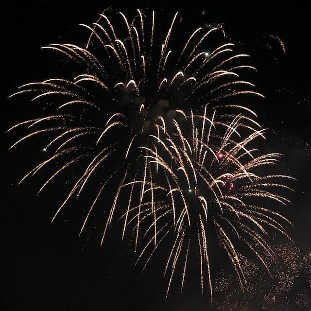 Feuerwerk zur Guy Fawkes Nacht