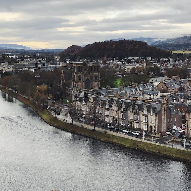 Blick auf Inverness vom Aussichtsturm