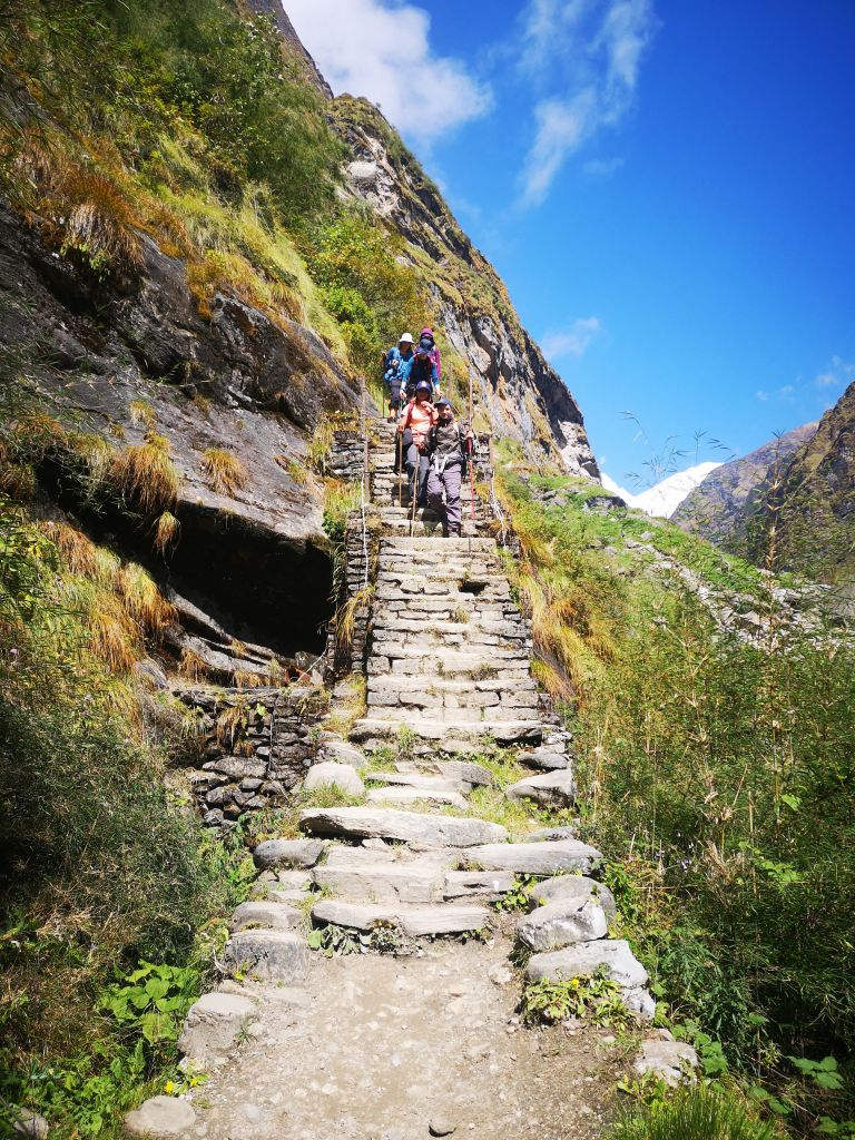 Steintreppe, Gurung, Berge