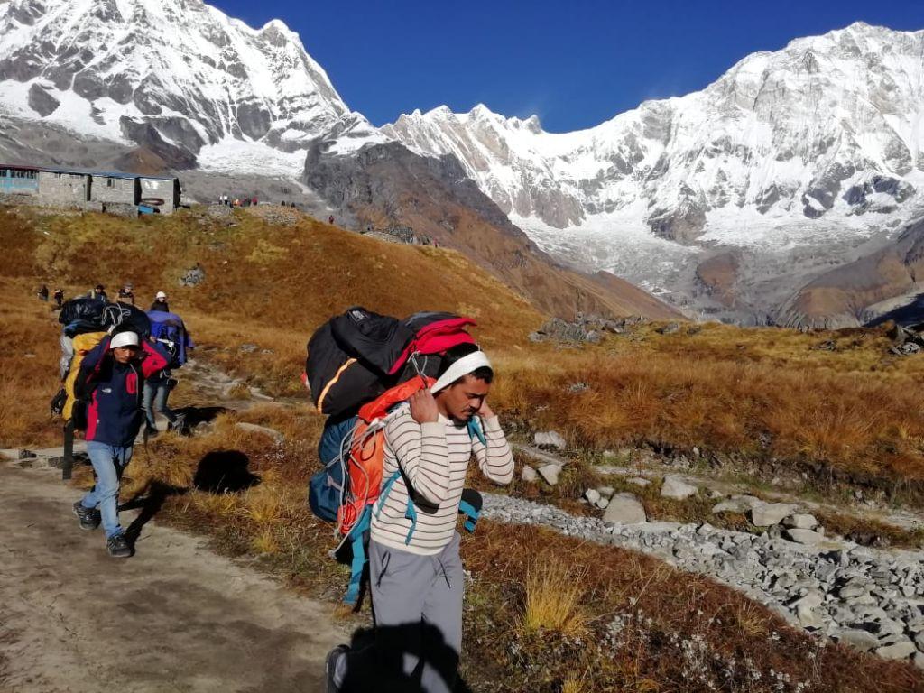 Träger, Himalaya, Berge