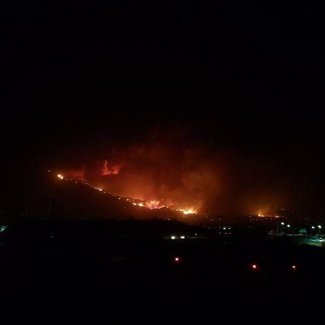 Waldbrand in den Bergen von Santa Barbara!