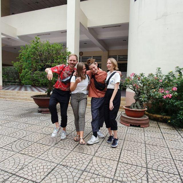 Mit Anton und Bennet von AB Syndrom und der Fotografin und Freundin der Band Anne