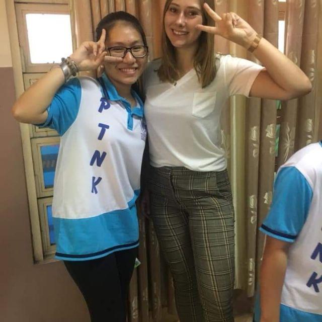 Foto mit einer Schülerin von mir