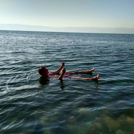 Relaxing at the Dead Sea #Jordan #DAAD #Correspondent #TotesMeer #ErlebeEs