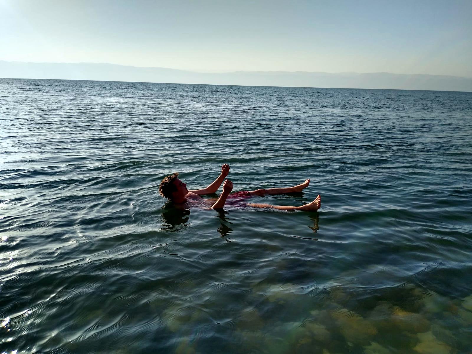 Relaxing at the Dead Sea #Jordan #DAAD #Correspondent #TotesMeer #ErlebeEs