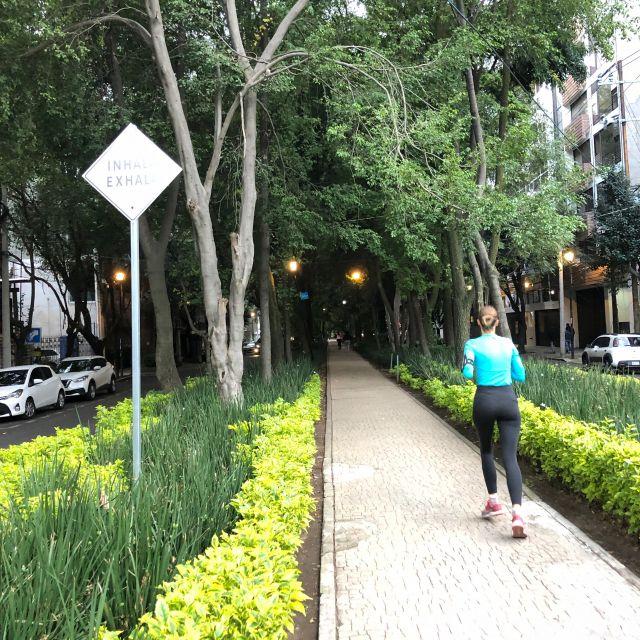 """Die Straße """"Calle Amsterdam"""" umkreist den Parque España und bietet sich ideal als Laufstrecke an (La Condesa)"""
