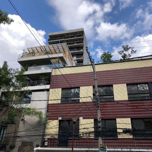 Viele Wohnhäuser in La Condesa sind sehr modern