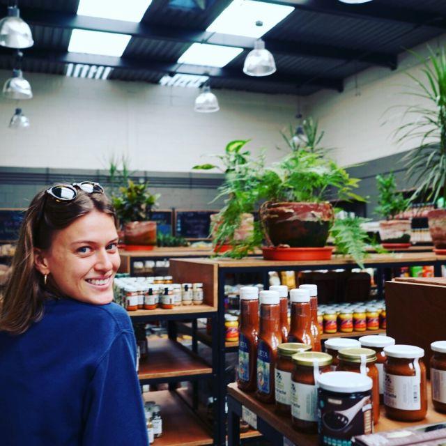 """Ein Bio-Supermarkt in La Roma namens """"The Green Corner"""""""