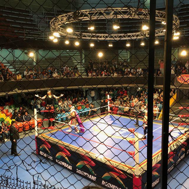"""Viel kulturelles Angebot, wie zum Beispiel das traditionelle """"Lucha Libre"""", findet im El Centro statt"""