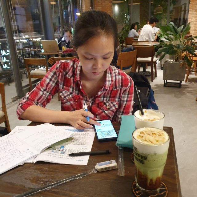 Ein Lerndate mit Minh, einer meiner vietnamesischen Freundinnen.