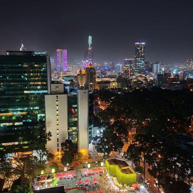 """Der Blick von der Rooftopbar """"Saigon Social Club"""" aus."""