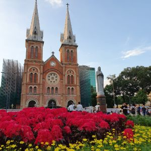 Die Kathedrale Notre Dame in HCMC