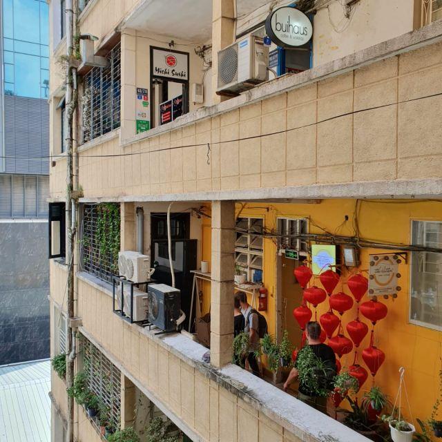 Die Cafe Apartments von Innen.