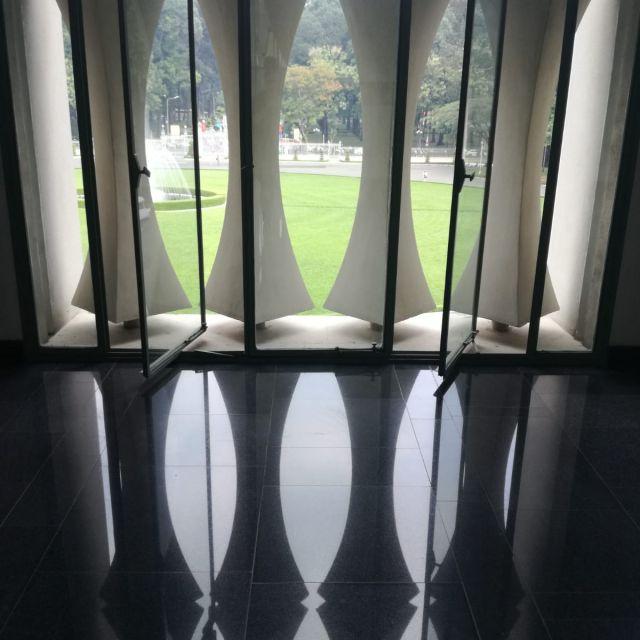 Der Blick raus aus dem Palast.