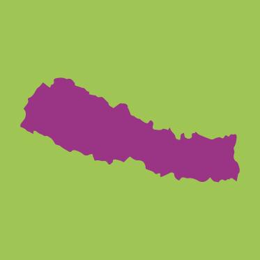 Kartenumriss Nepal