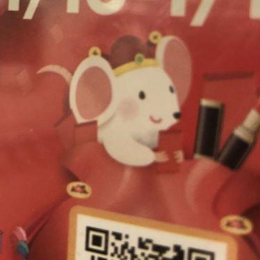 Bild einer chinesischen Maus in Shanghaier U-Bahn.