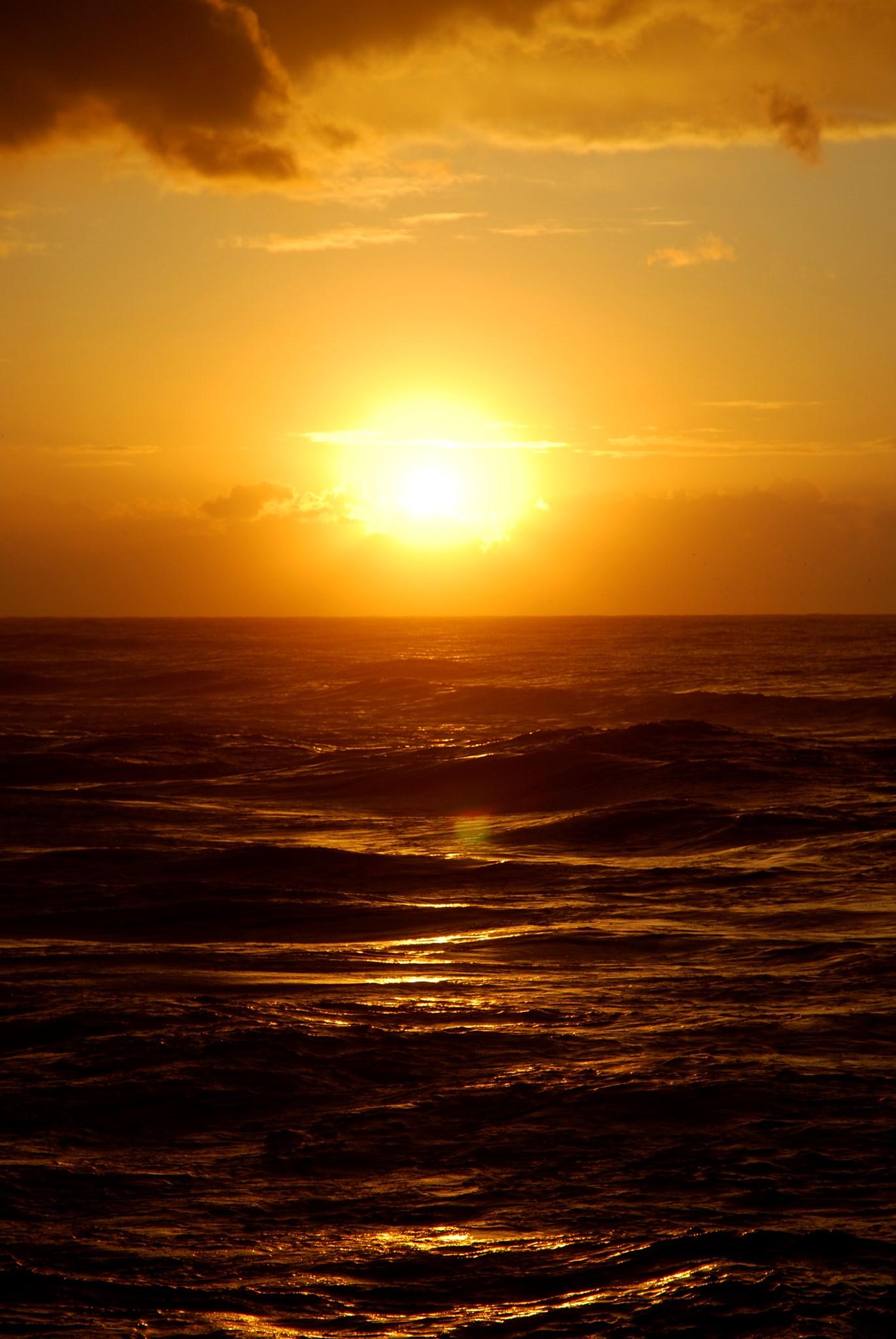 Entspannter Sonnenuntergang nach den letzten Klausuren im Master-Studiengang.