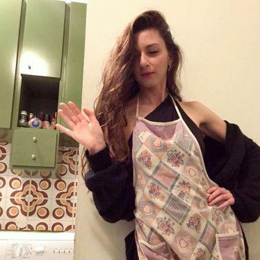 Ich mit Kochschürze