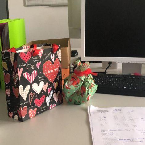 Erster Arbeitstag nach einer langen Weihnachtspause und (verspätete) Geschenke…