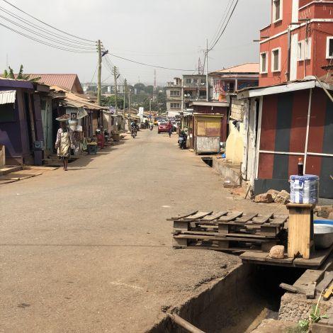 Straße in Accra