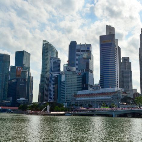 Skyline in Singapur.