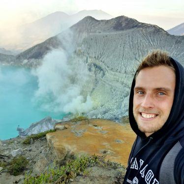 Aussicht vom Mount IJEN auf Java