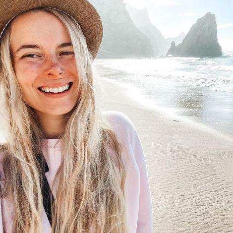 Happy me am Praia da Ursa (Bärenstrand) - eine wunderschöne versteckte Bucht…