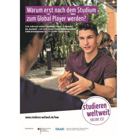 """Poster """"HAW.International"""" für Auslandssemester"""