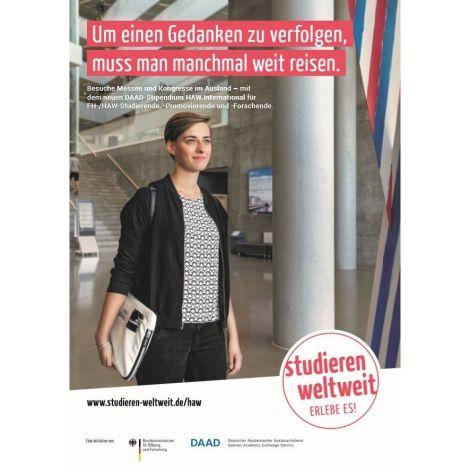 """Poster """"HAW.International"""" für Messe- und Kongressreisen"""