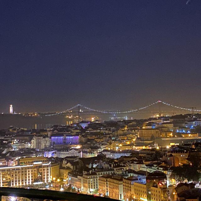 Blick auf Lissabon bei Nacht.