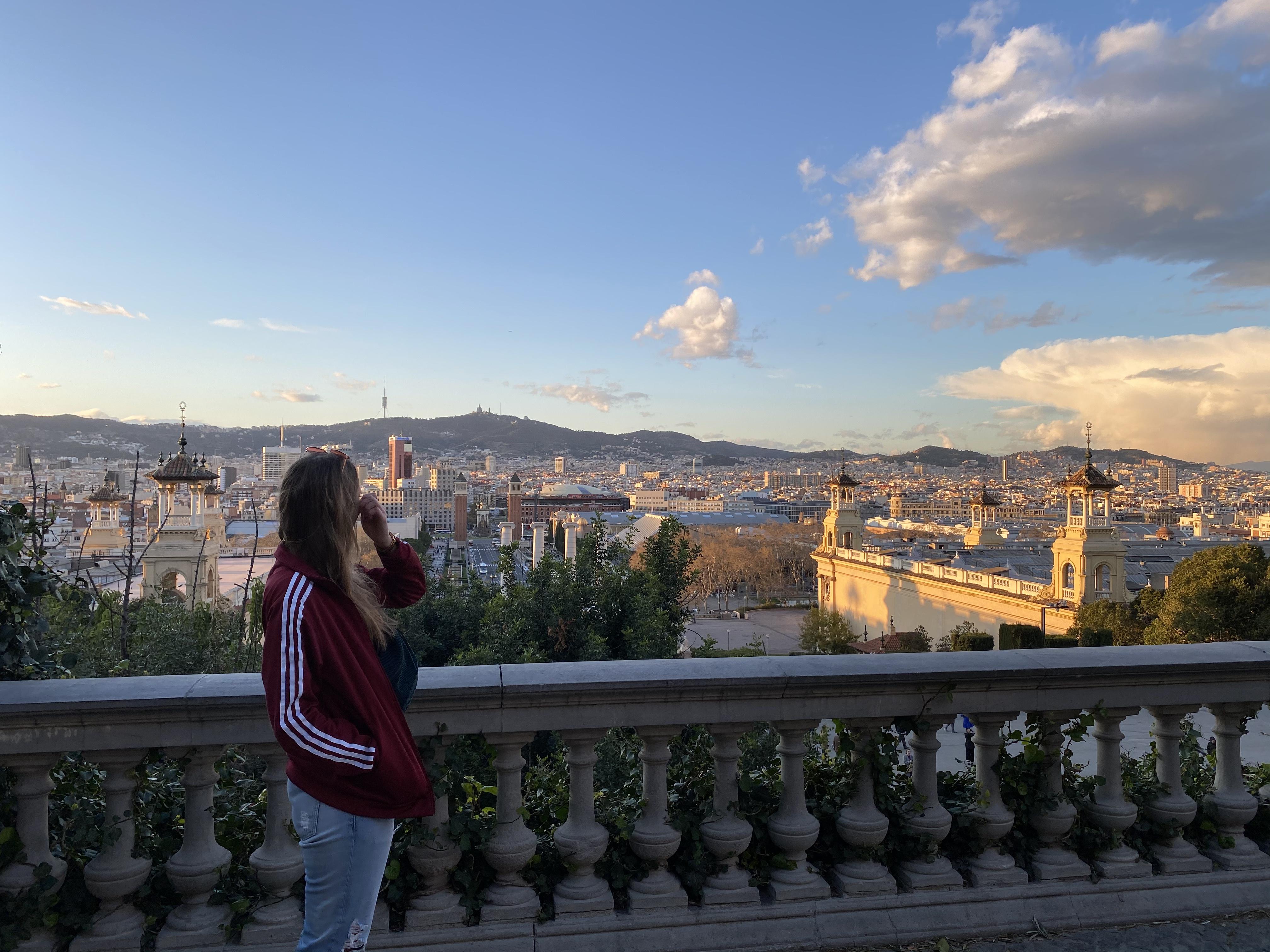 Aussichtsplattform über Barcelona