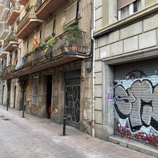 Geschlossene Läden in Barcelona