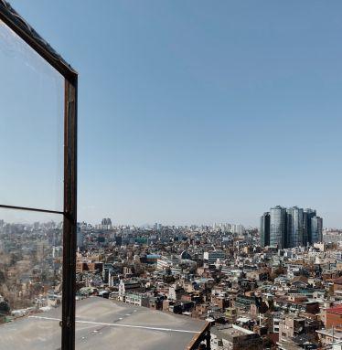Ausblick über die Skyline von Seoul