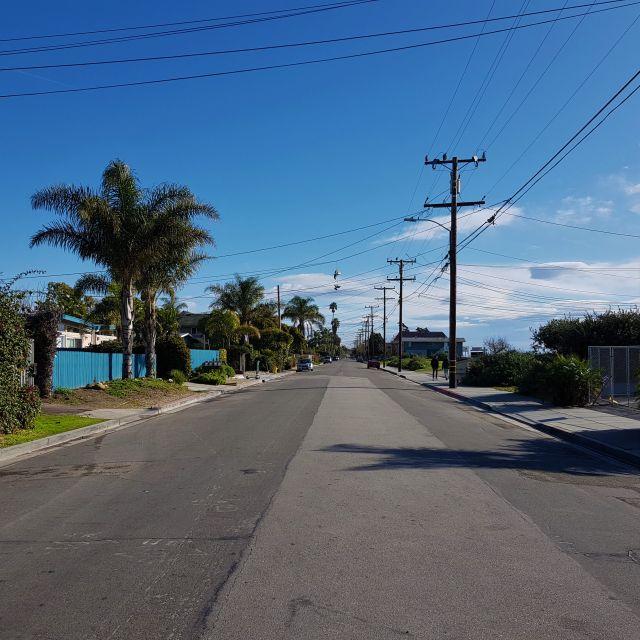 Leere Straßen in Isla Vista - wie viele Amerikaner zurück kommen ist noch ungewiss!