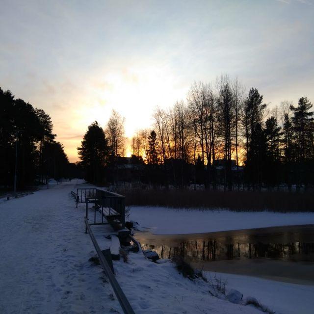 Finnland See Oulu