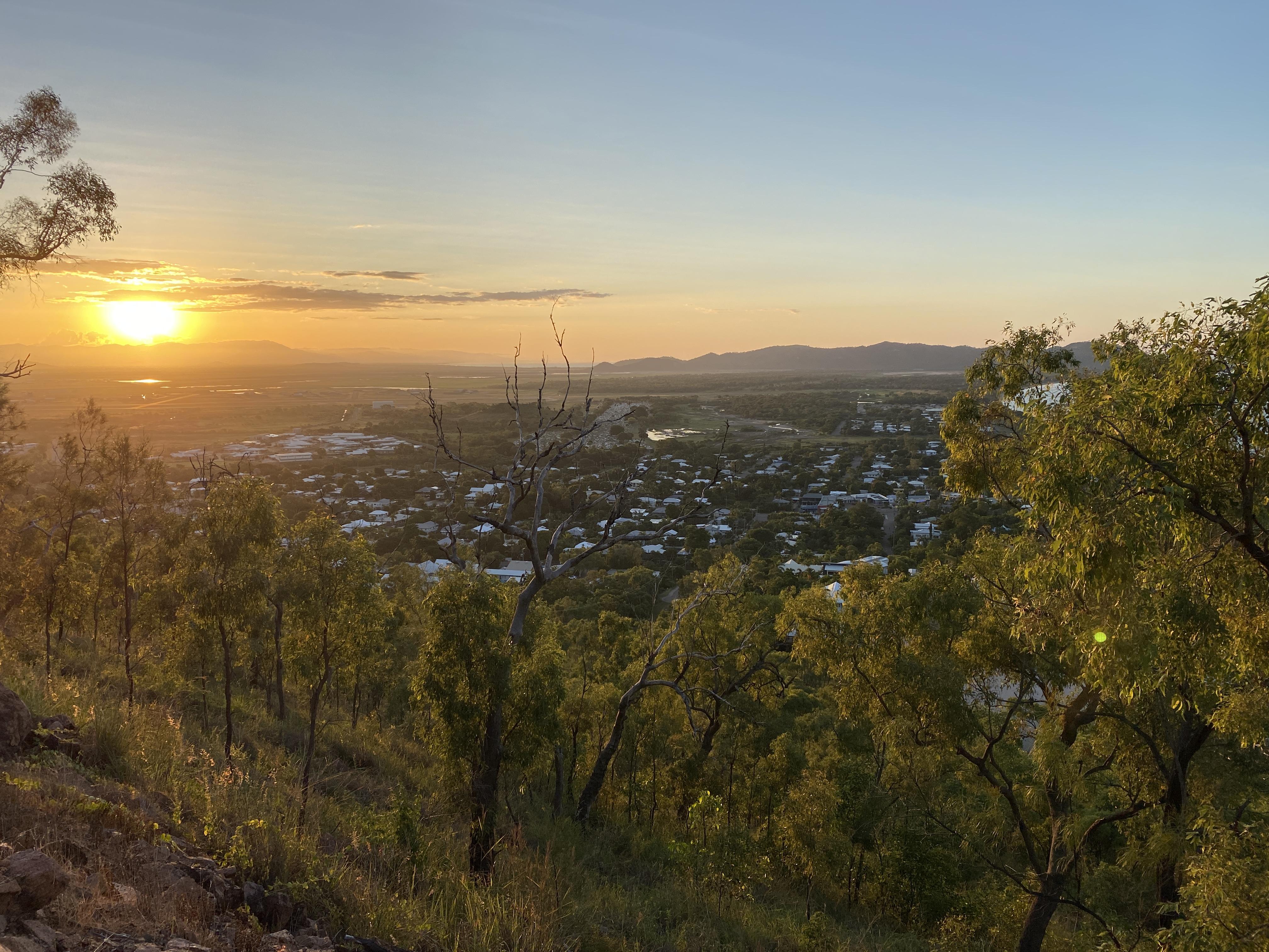 Sonnenuntergang auf Castle Hill