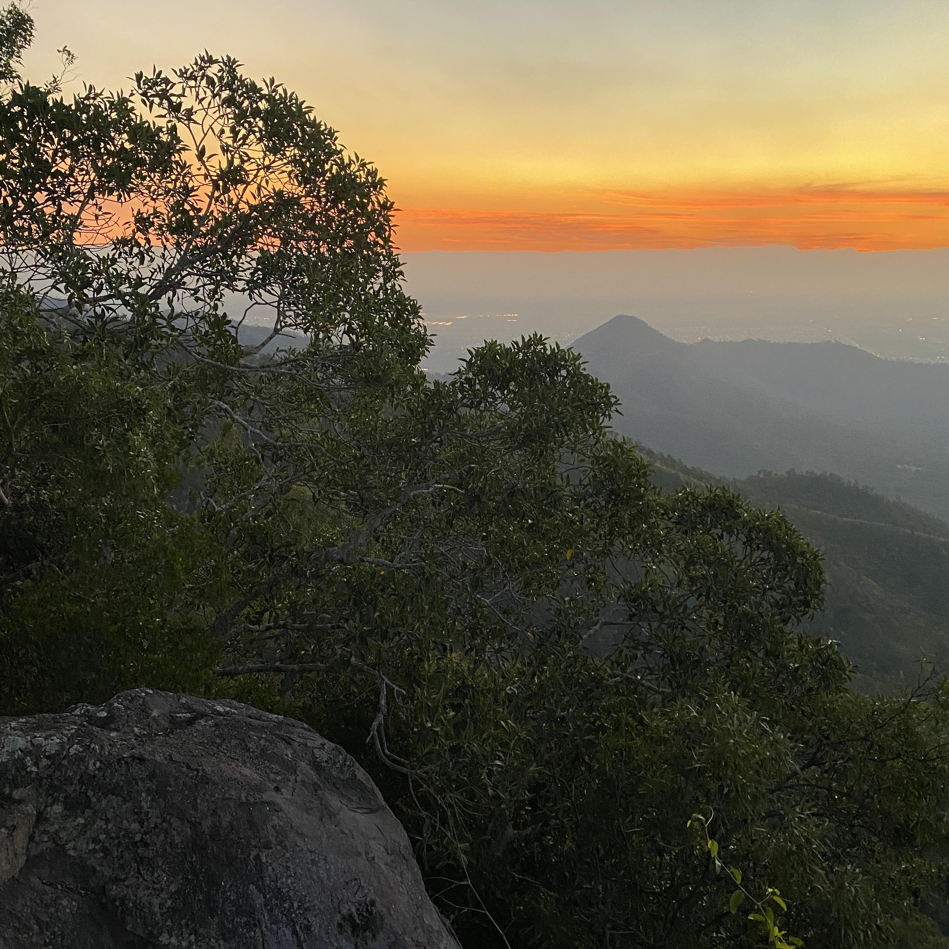 Sonnenuntergang auf Mount Stuart