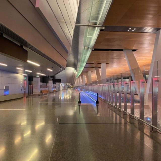 Leere Flughafen in Katar