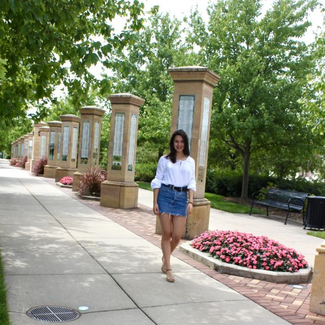 ich auf dem campus