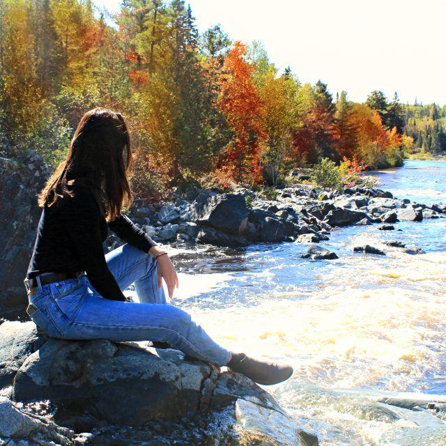 bunte Herbstwälder in Kanada