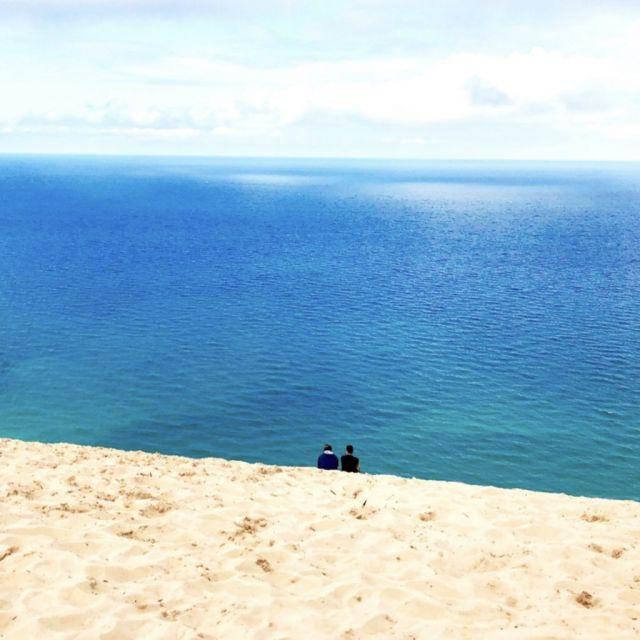 die Sleeping Bear Dunes am Lake Michigan