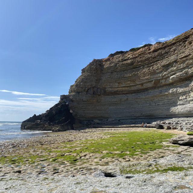 Klippenformationen am Meer.
